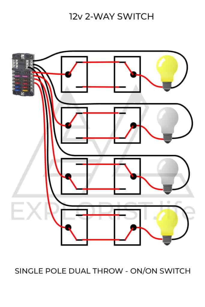 howto wire lights  switches in a diy camper van electrical