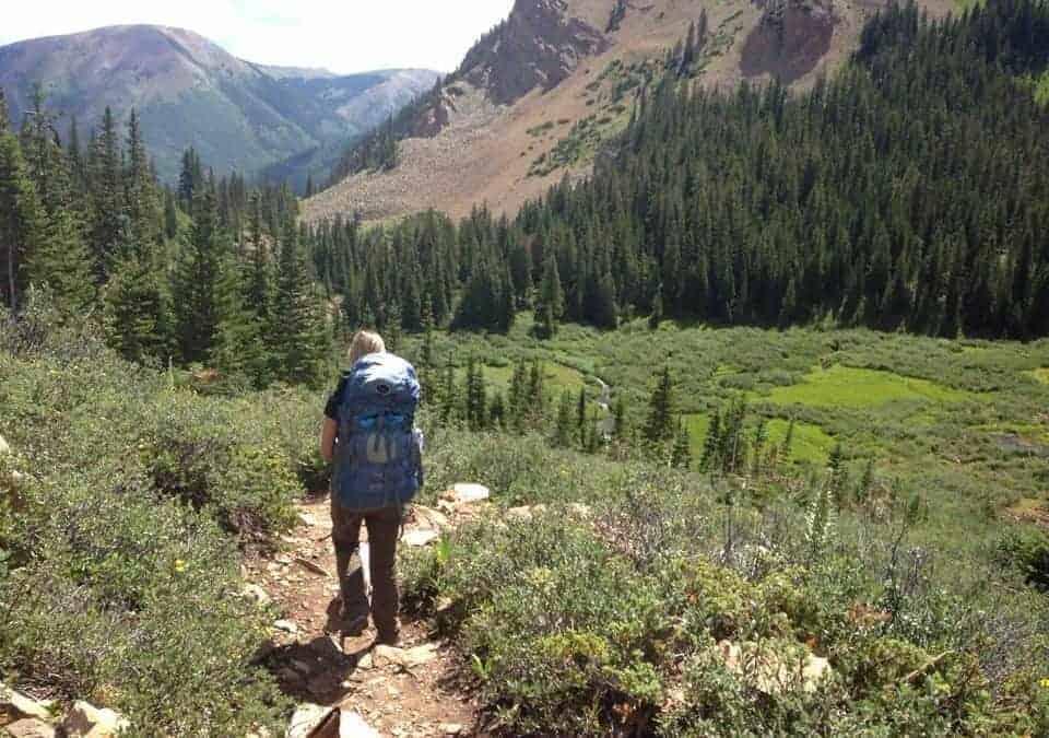 Camping at Cathedral Lake near Aspen, Colorado