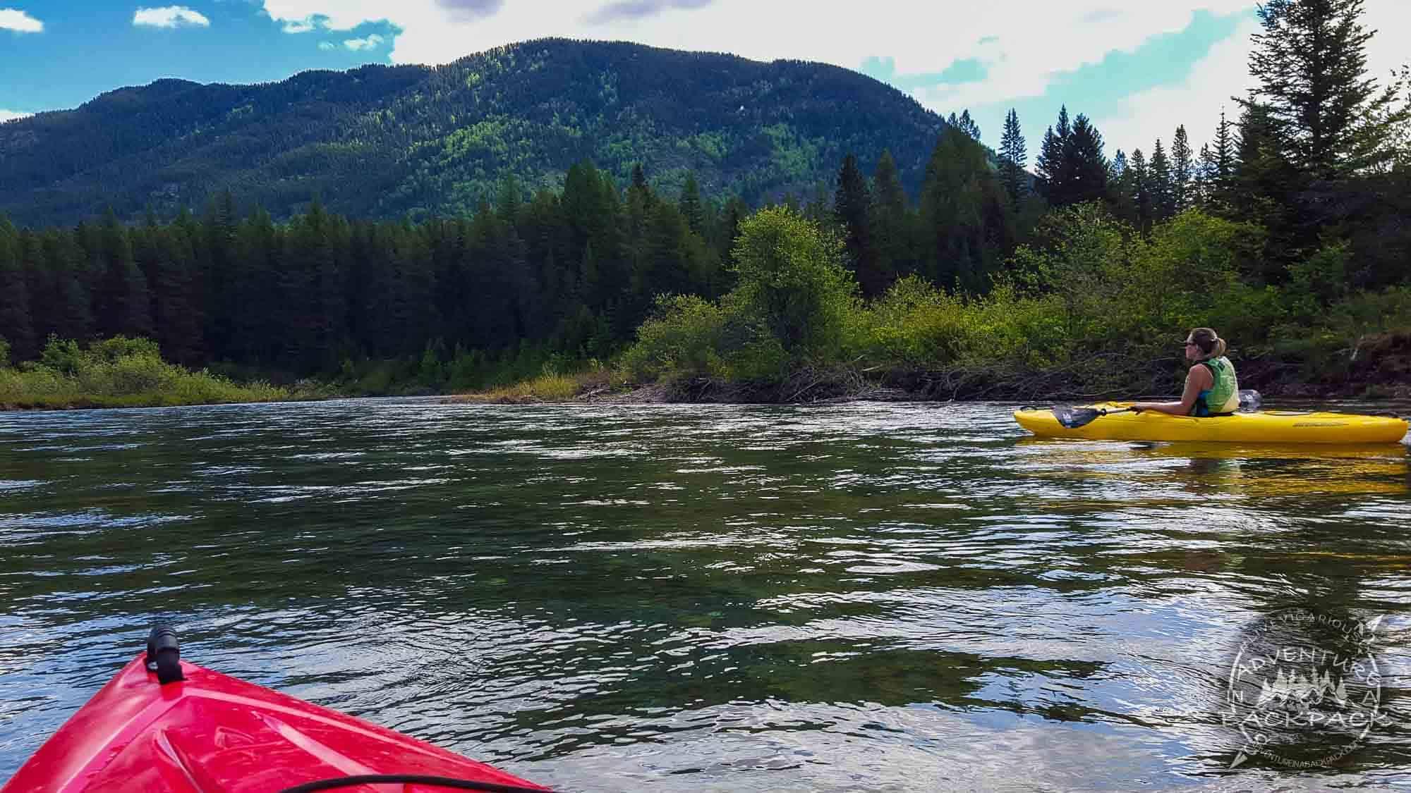 Kayaking Lake Mcdonald & Mcdonald Creek in Glacier National Park, Montana