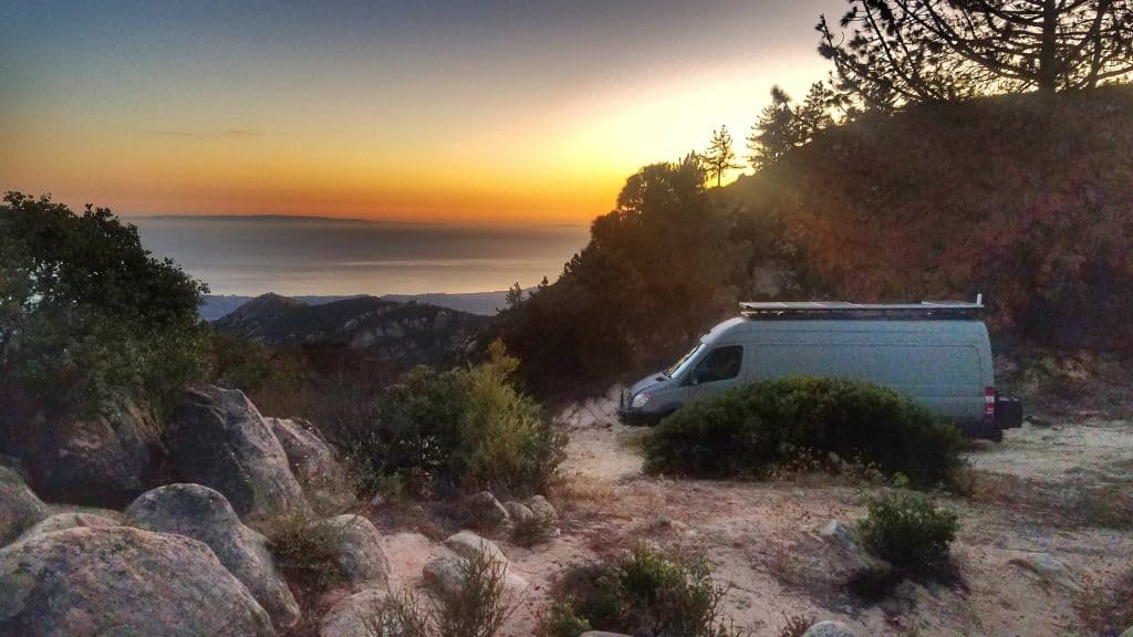 Camping on Pacific Coast Highway
