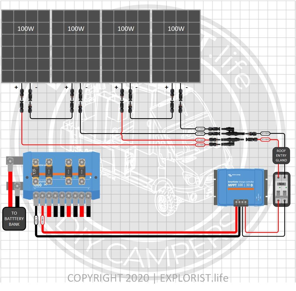 2000w Inverter 200 400ah Lithium 200 To 700w Solar Camper Wiring Diagram Explorist Life