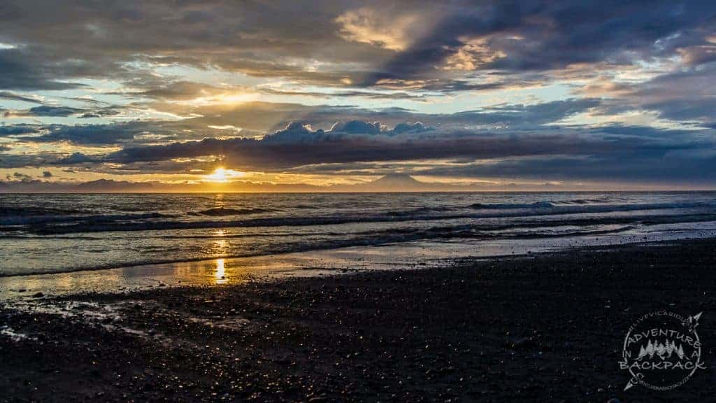 Beautiful sunset on a beautiful beach on the Cook Inlet.