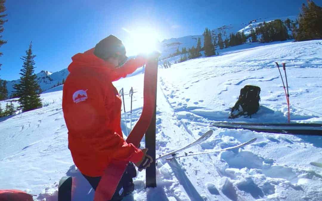 Backcountry Skiing near Park City, Utah