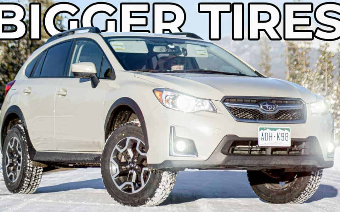 Subaru Crosstrek Bigger Snow Tire Upgrade