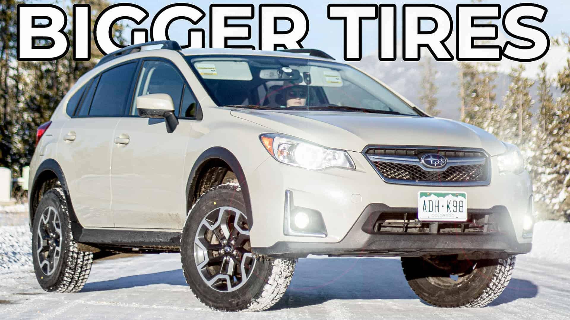 Subaru Crosstrek Bigger Snow Tire Upgrade  U2013 Explorist Life