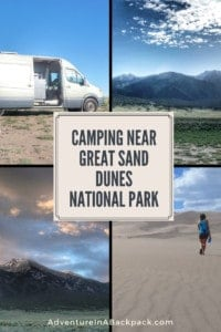 Boondocking Campsite near Great Sand Dunes National Park