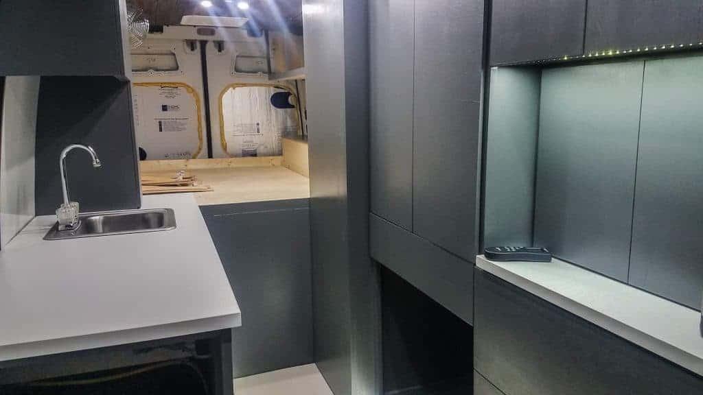 Campervan Cabinet Installation
