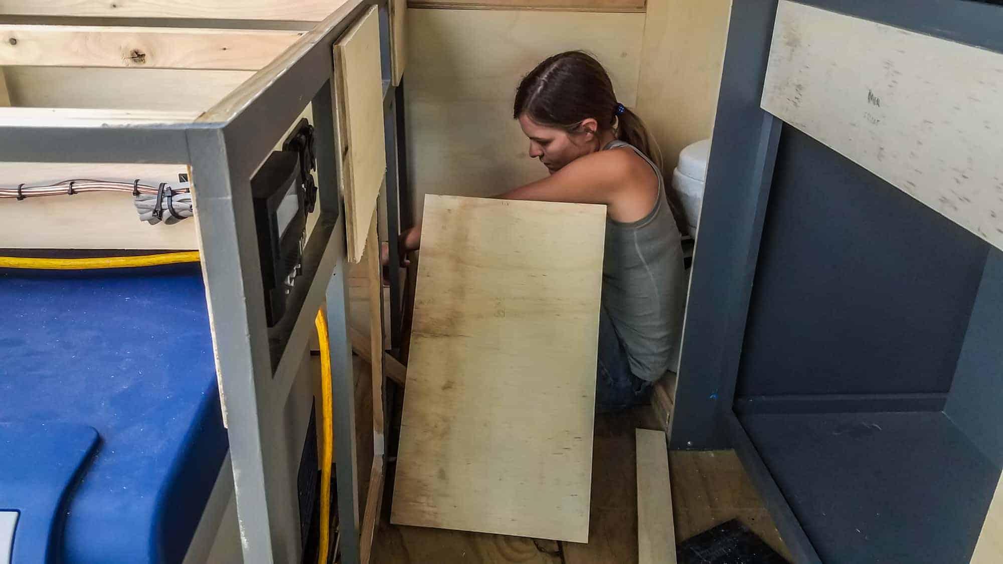 Building Camper Cabinets-7