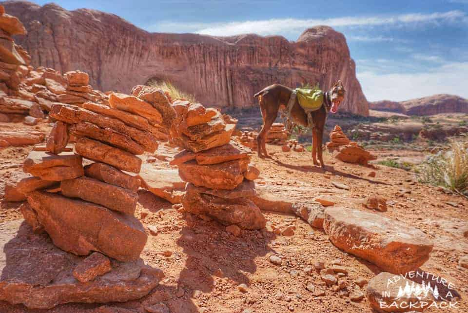 Hiking to Corona Arch in Moab Utah