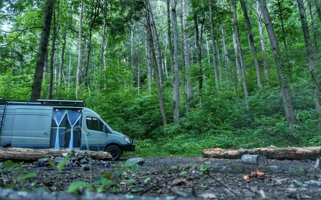 Free Dispersed Camping in Cherokee National Forest near Asheville, North Carolina