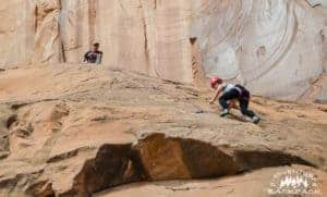 Climbing in Moab