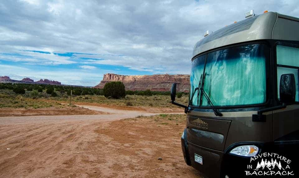 Free Dispersed Campsite in Moab Utah