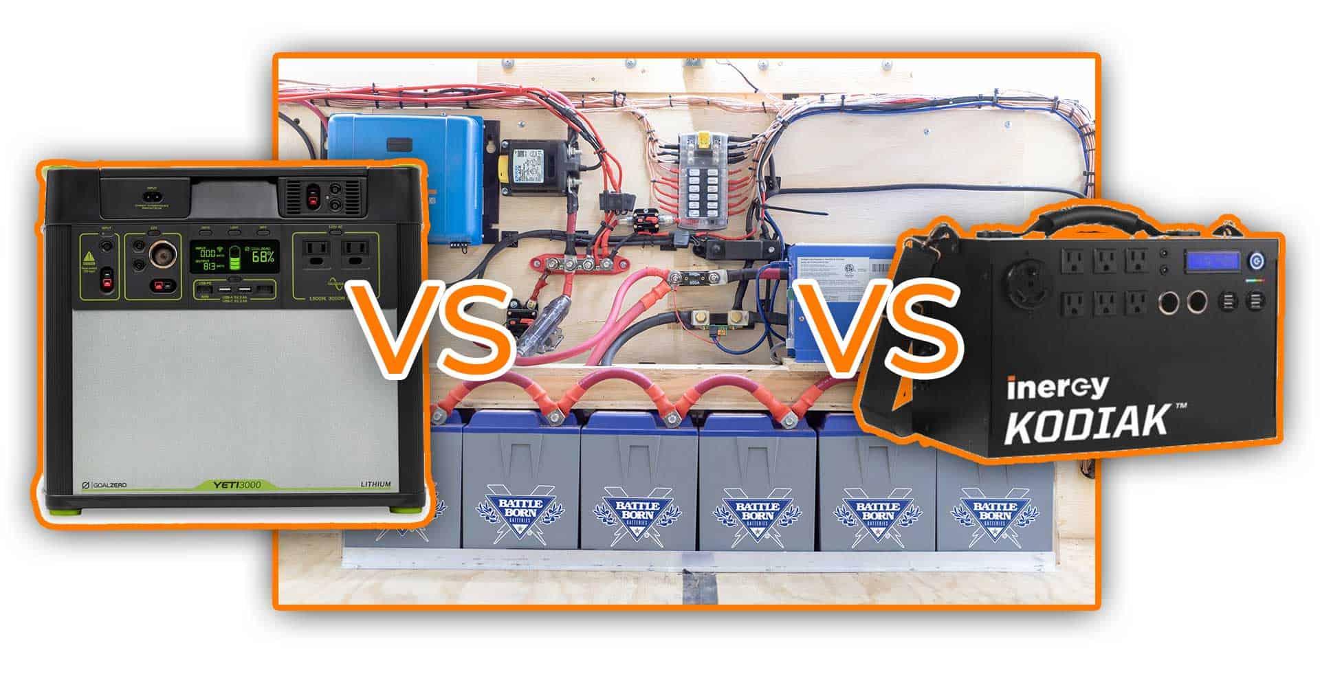 Goal Zero vs Kodiak vs DIY Camper Van Solar