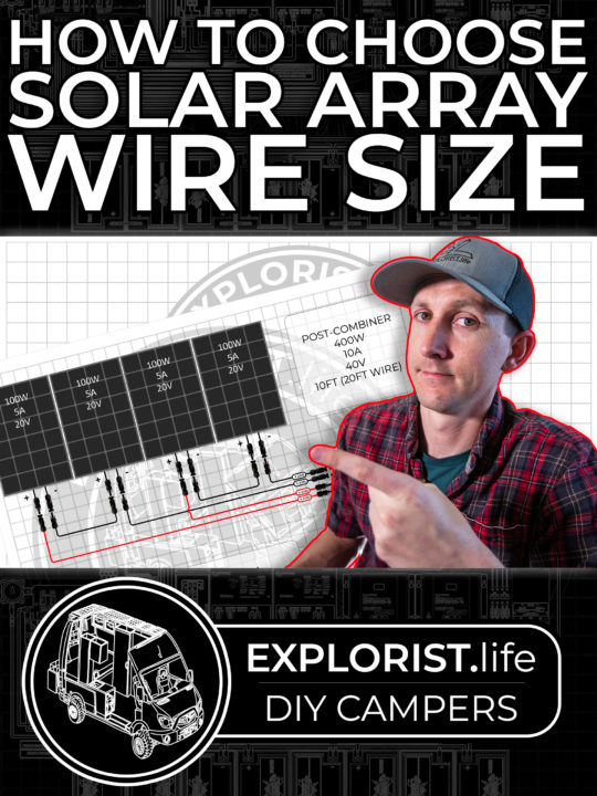 How to Choose Solar Panel Wire Size in a DIY Camper Electrical System