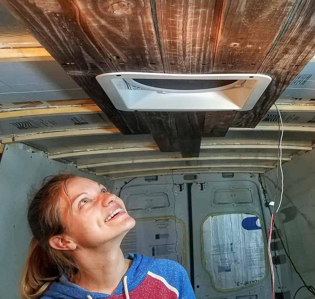 Installing Campervan Ceilings-4