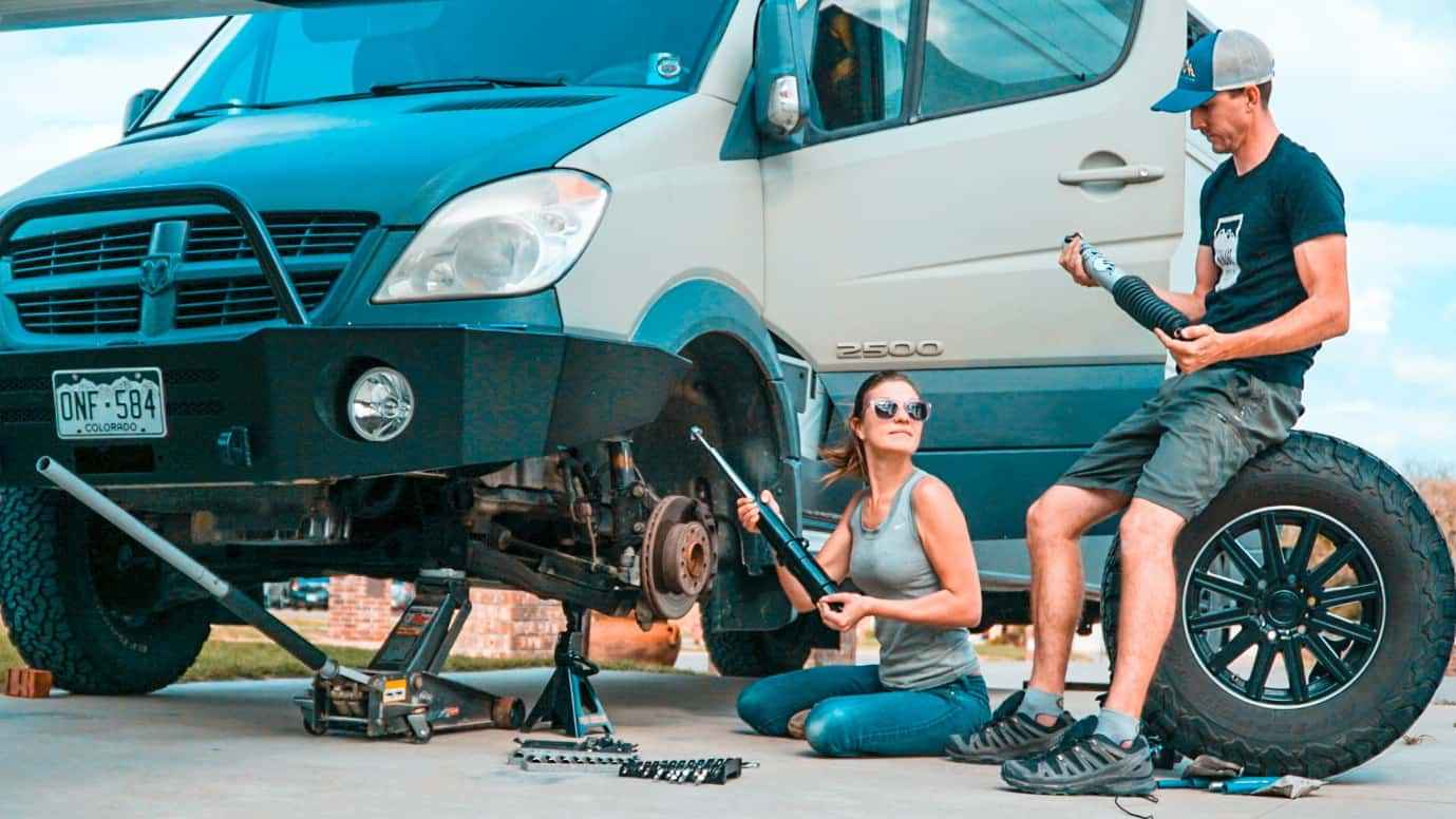 How to Replace the Shocks on a Sprinter Camper Van