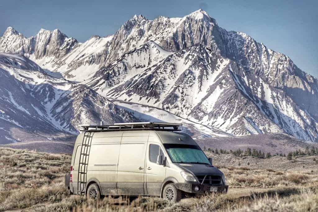 Free camping near Mammoth Mountain