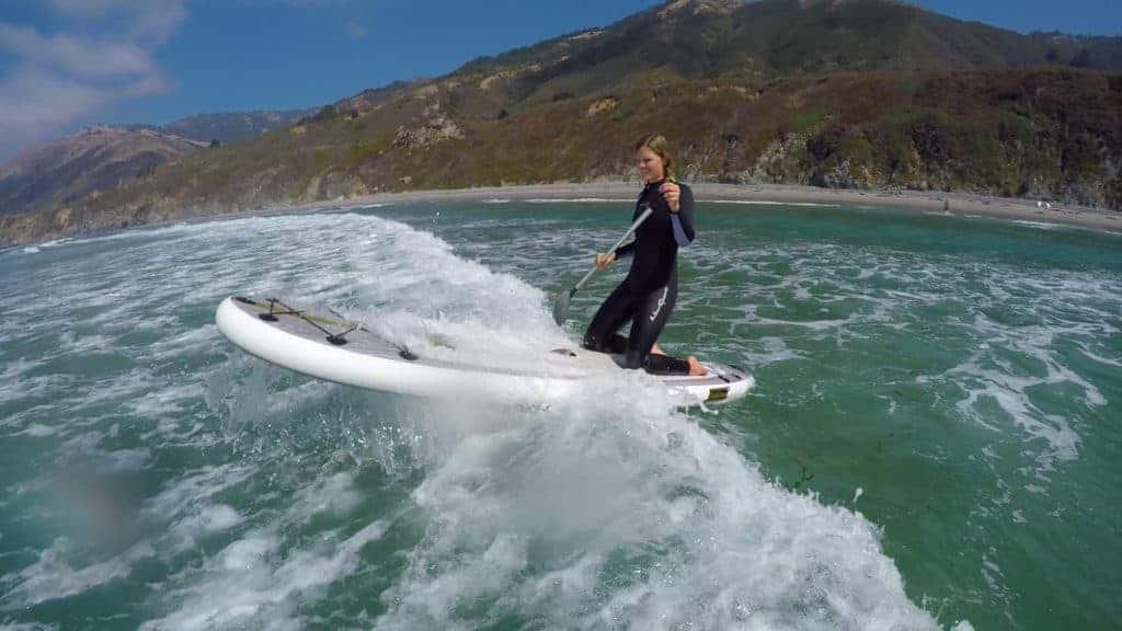 Paddle board surfing ventura california