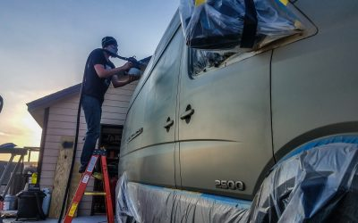 Installing Full-Body Plasti Dip on our DIY Camper Van Conversion