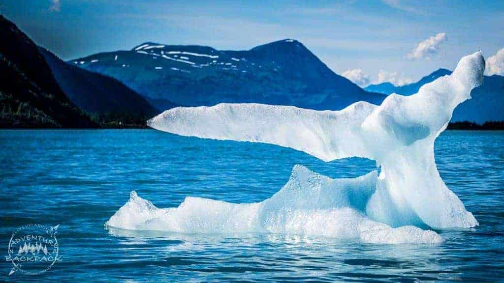 Icebergs on Portage Lake