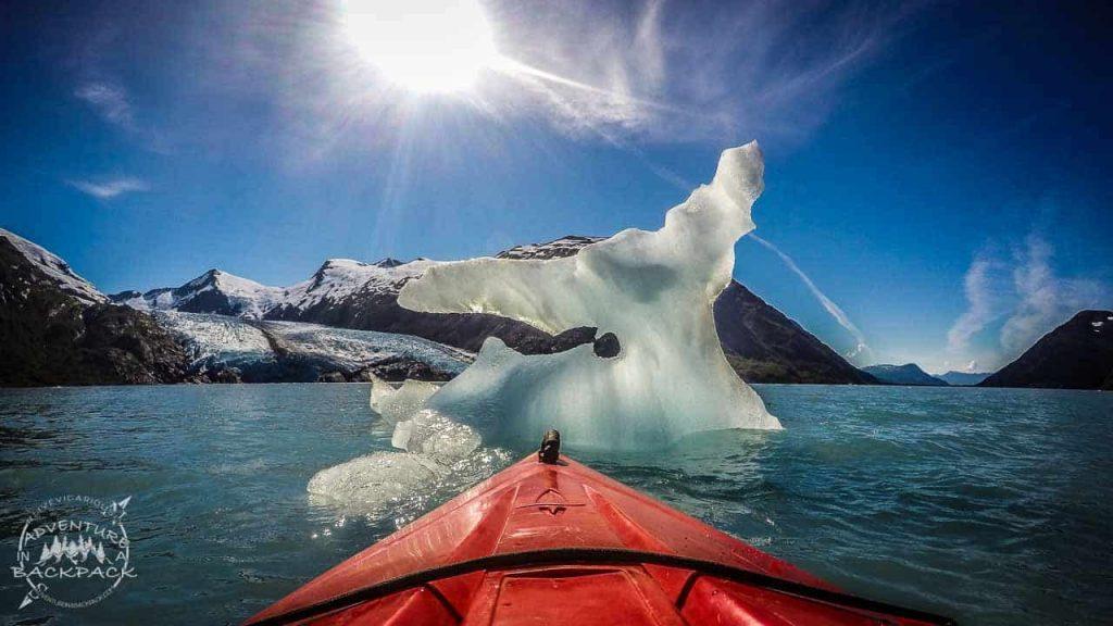 Icebergs on Portage Lake