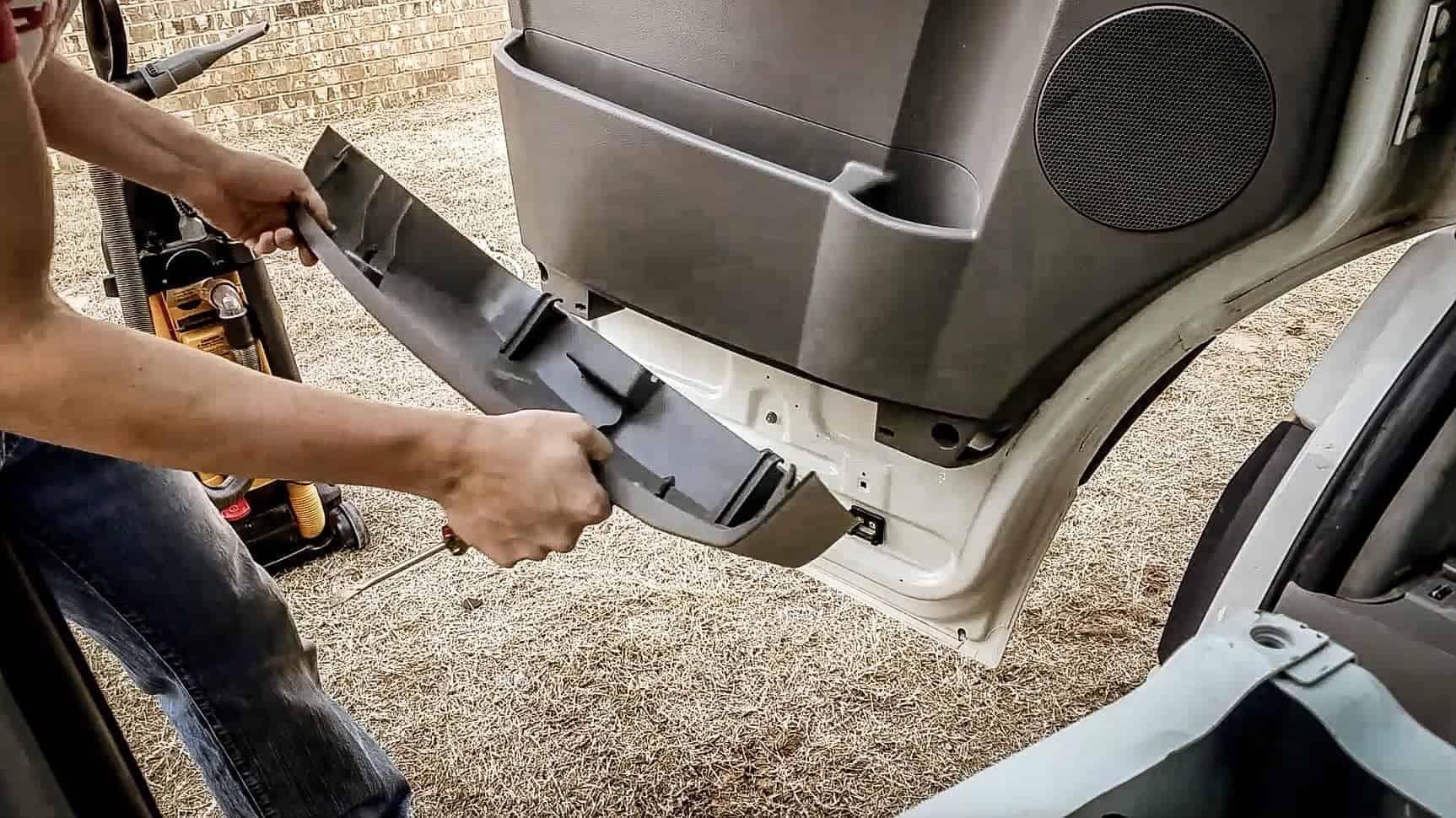 Removing door panel from Mercedes Sprinter Vanlife-1