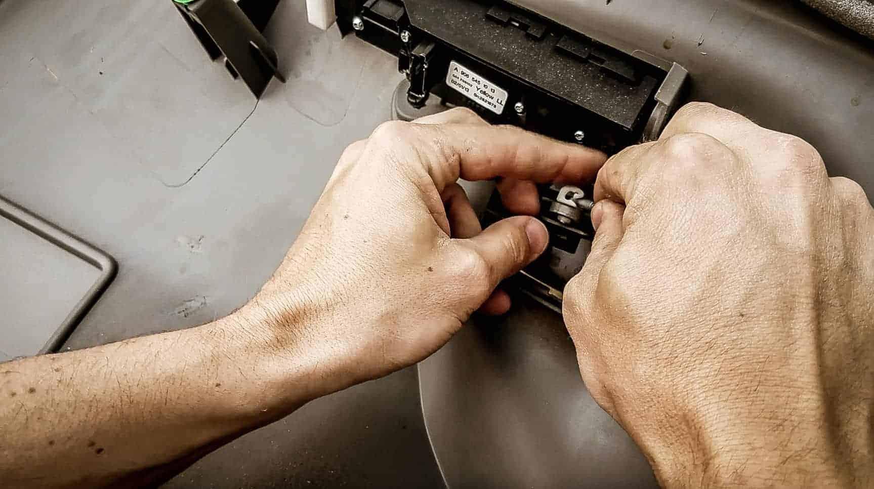 Removing door panel from Mercedes Sprinter Vanlife-7