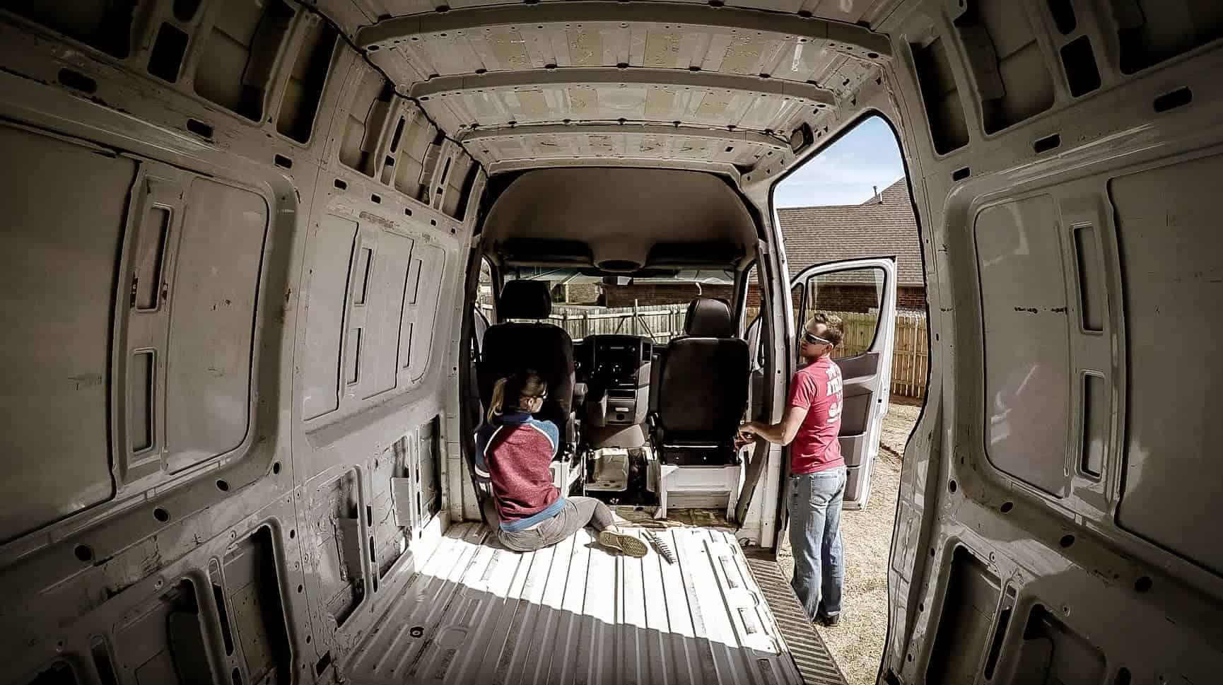 Removing the seats from our Mercedes Sprinter Campervan-2