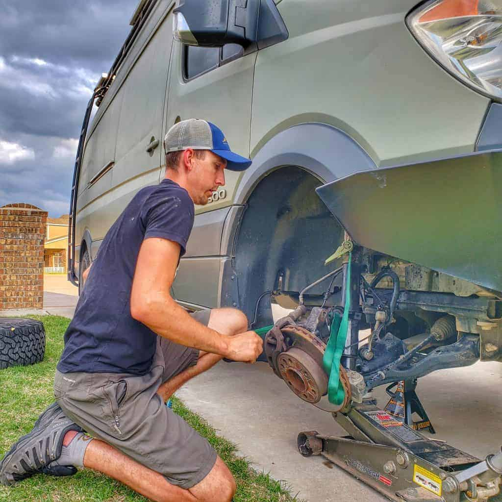 Replacing Shocks on a Sprinter Van