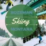Skiing Bridger Bowl Montana