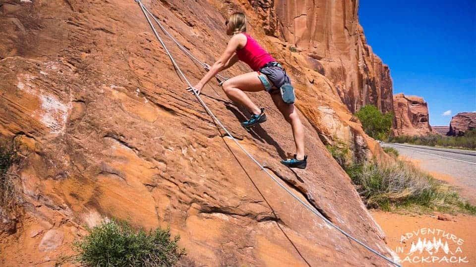 Rock Climbing Moab