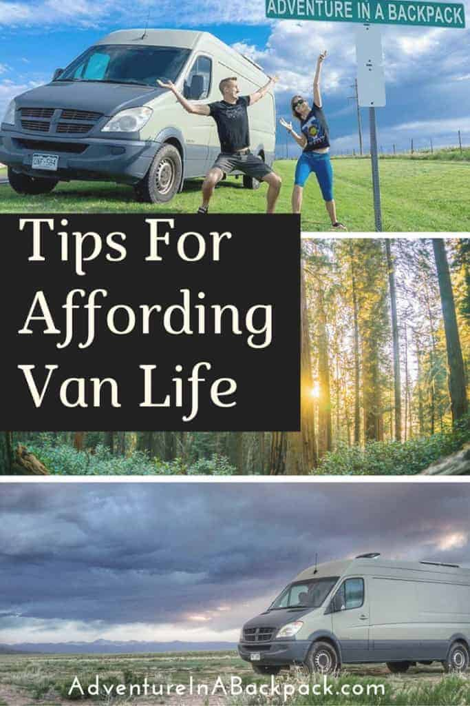 How to afford van life