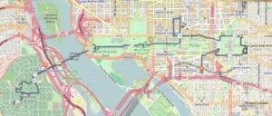 Washington D.C. walking route