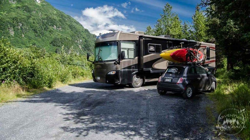 Boondocking in Portage Alaska