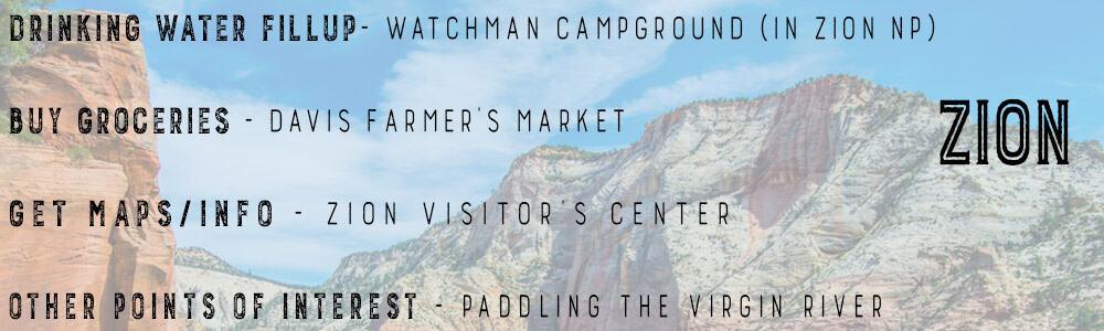 Utah Road Trip Zion Info